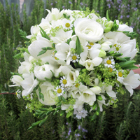 ::Spring bridal bouquet